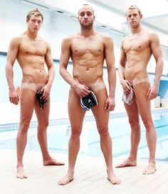 naked olympic swimmers james goddard ross davenport and grant turner