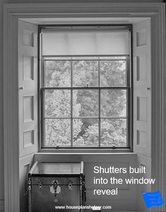 The window reveal is the walls immediately surrounding your windows and offers some interesting design opportunities. Blueprint Symbols, Floor Plan Symbols, Bay Window Design, Georgian Windows, Interior And Exterior Angles, Free Floor Plans, Window Reveal, Window Detail, Brick And Wood
