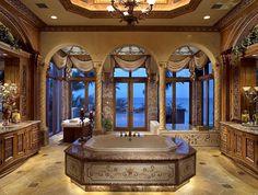 Amazing bathroom love the down light under the bath