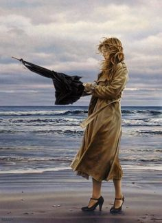 Paul Kelley's sensual art has a romantic appeal, from his figurative painting, fashion artwork, and nude art prints, to his dance artwork and Nova Scotia art. Canadian Painters, Canadian Artists, Paul Kelly, Jack Vettriano, Creation Photo, Fashion Artwork, Umbrella Art, Female Images, Figure Painting