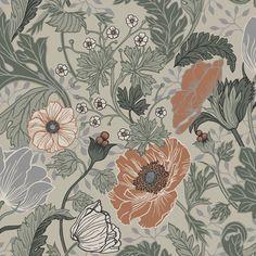Midbec Apelviken Anemone 33001 | Tapetkollektionen Apelviken inspirerar dig till att skapa ditt drömhem. Ett hemtrevligt och inbjudande hem. Färgskala