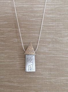 Sterling silver house pendant silver house necklace by mtsilver