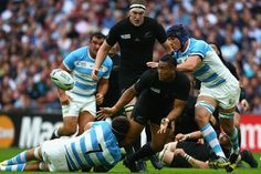 Rugby World Cup 2015 - Match Centre - Match 8 - Sept.20 2015 - New Zealand 26 - Argentina 16 - Julan Savea New Zealand v Argentina Pool C Rugby World Cup 2015 HOOPS, YOU MISSED: Julian Savea of the All Blacks passes the ball just before he is tackled by Juan Martin Fernandez Lobbe of Argentina