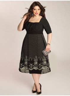 Hayleigh Plus Size Dress in Black - Just In by IGIGI