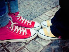 yellow and red #converse