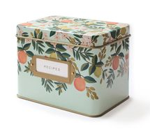 Citrus Floral Tin Recipe Box by Rille Paper Co.