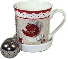 Keramický hrnek s kulatým sítkem Mugs, Tableware, Dinnerware, Tumblers, Tablewares, Mug, Dishes, Place Settings, Cups
