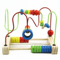 1Set-Children-Diy-Toy-Wooden-Classic-Wire-Maze-Educational-Learning-Around-Beads