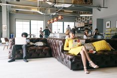 How Coworking and Coliving are Redefining Space as a Service,Common area in D.C.'s WeWork space. Image © WeWork