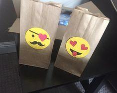 Bolsas Favor de Emoji por 3Nspirations en Etsy
