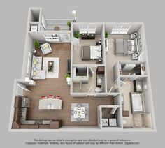 The Pointe at Bentonville | 2 Bedroom 2 Bath Kingston floor plan