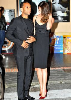 John Legend and Chrissy Teigen; love her outfit