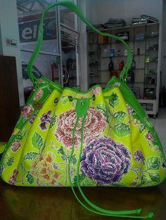 Sadina bag made from batik encim mix lambskin