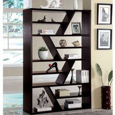 Furniture of America Emize Espresso Open Display Shelf | Overstock.com Shopping - Great Deals on Furniture of America Media/Bookshelves 285