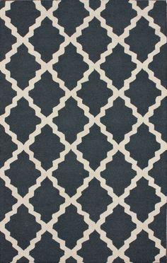 Homespun Moroccan Trellis Rug - Rugs USA Homespun Moroccan Trellis Charcoal Rug-for our bedroom? Tan Rug, Grey Rugs, Living At Home, Living Room, Usa Living, Trellis Rug, Trellis Design, Rugs Usa, Modern Area Rugs