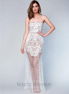 24315411e1 A stunning full length gown by Grace  amp  Hart. A strapless. whiterunway .com
