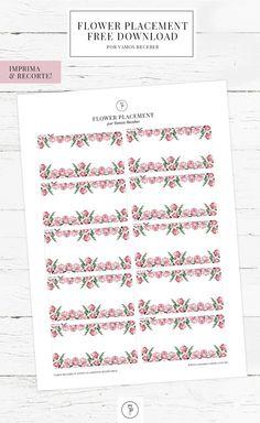 Placement cards com flores para receber com carinho os convidados à mesa, o ideal é usá-los com um lindo marcador de lugar!