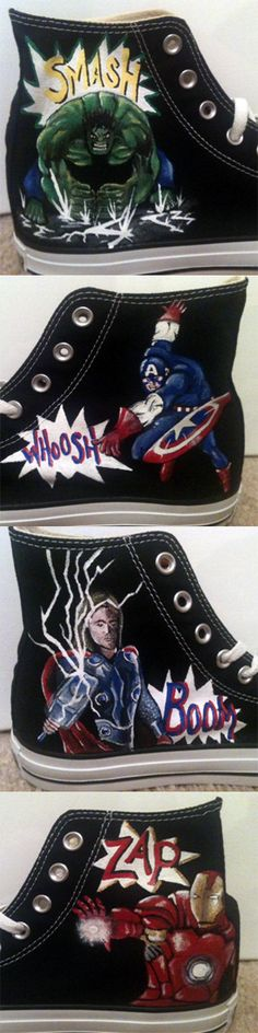 Hand Painted Avenger Shoes - $150
