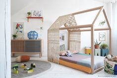 Frame up more fun with a transitional toddler bed your kiddo can call home. (Searches for house frame floor beds +90%)