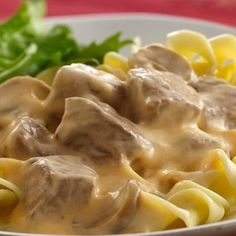 Slow-Cooker Beef Stroganoff: This popular recipe is so easy to make! Place in the slow cooker in morning and come back from work with a complete dinner!