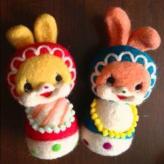 まだ未完成。 #handmade #sapporo #japan #artist #woolfelt #mascot #cute #cat #original #craft #札幌 #マスコット #양모펠트 #마스코트 #JEWEL_CANDY