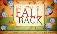 End of Daylight Savings Time