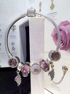 50% OFF!!! $199 Pandora Charm Bracelet Pink. Hot Sale!!! SKU: CB01823 - PANDORA Bracelet Ideas