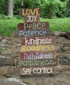 fruit of the spirit crafts | Paint and Craft / FrUiTs of the SpIrIt.....reclaimed barnwood sign. $ ...