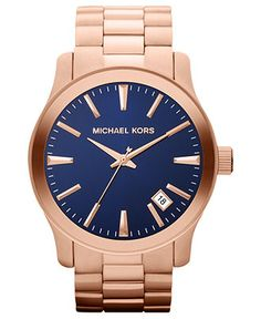 Michael Kors Watch, Men's Runway Rose Gold Tone Stainless Steel Bracelet 45mm MK7065 - Men's Watches - Jewelry & Watches - Macy's