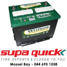 Visit Supa Quick Mosselbaai for great deals on Willard batteries. We promise service with a difference. #willardbatteries #supaquick