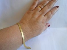 Pulseira Espinha de Peixe Diamantada Folheada a Ouro 18K Modelo 4mm .    20 cm e 22 cm. Maravilhosa :) R$ 28,00