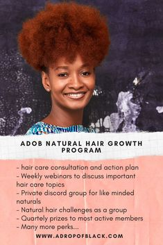 Tips for natural hair growth, length retention, moisturized natural hair and natural hair styles all in one place. Achieve all your natural hair goals in 2021 by becoming a member of A drop of black natural hair growth program.