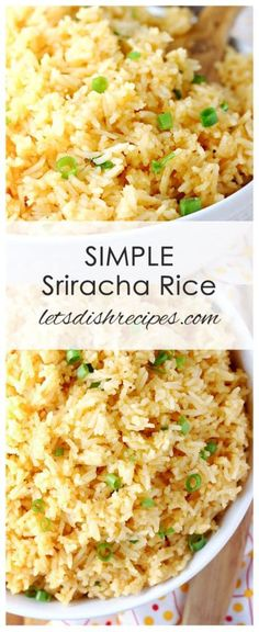 Simple Sriracha Rice Recipe: This easy side dish recipe is such an easy way to add a little spice to your dinner menu! This easy side dish recipe is such an easy way to add a little spice to your dinner menu! Rice Side Dishes, Side Dishes Easy, Vegetable Side Dishes, Side Dish Recipes, Food Dishes, Asian Recipes, Healthy Recipes, Ethnic Recipes, Simple Rice Recipes