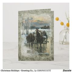 Shop Christmas Holidays - Greeting Card created by GRAPHICSITE. Christmas Holidays, Christmas Cards, Christmas Stuff, Holiday Greeting Cards, Vintage Holiday, Prints, Winter Style, Painting, Design