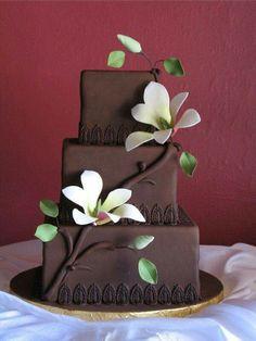 chocolate wedding cake recipes from scratch uk Pretty Cakes, Cute Cakes, Beautiful Cakes, Amazing Cakes, Fondant Cakes, Cupcake Cakes, Bolo Original, Cake Design Inspiration, Cake Pictures