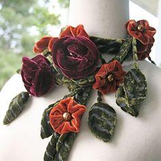 Blossom in winter flower scarf