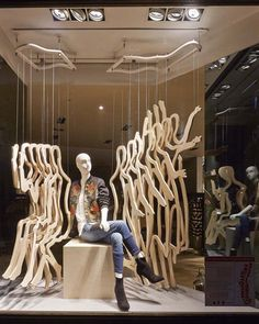 KAREN MILLEN windows installation by StudioXAG, London UK window display