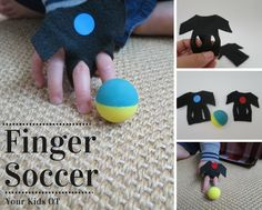 Finger Soccer, a quick to make finger game! Your Kids OT