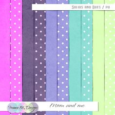 Mom and me | Solids and Dots :: France M. Designs :: Shop by Designer :: Memory Scraps