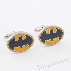Mens Cufflinks Batman Cuff links Geekery Cufflinks by BingJewelry ✿