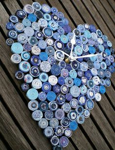 Recycled Paper Clocks