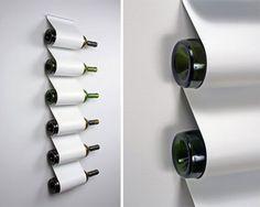 portabottiglie design acciaio