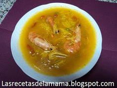 Las recetas de la Mama: Receta de Sopa de marisco