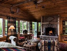 20 Rustic Log Cabins, Inside and Out!