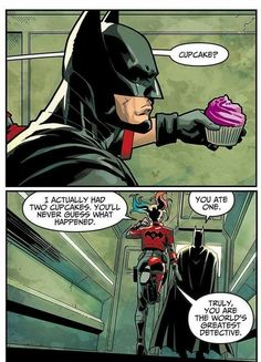 #dc #dccomics #marvel #marvelcomics #batman #darkknight #harleyquinn #superheroes #comicwhisperer #funny #humorous #cupcake