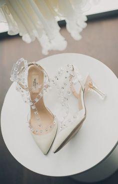 Featured Photographer: Mango Studios; www.mangostudios.com; Wedding shoes idea.