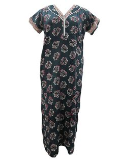 Cotton Nighties For Women's Nightgown Dark Blue Sleepwear