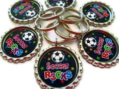 Soccer Party Favors  Soccer Rocks   Backpack Charm by AllSports, $2.50