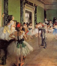 1874 Edgar Degas (French, 1834-1917) ~ The Dance Class