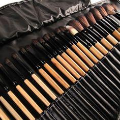 32Pcs Print Logo Makeup Brushes Professional Cosmetic Make Up Brush Set The Best Quality!